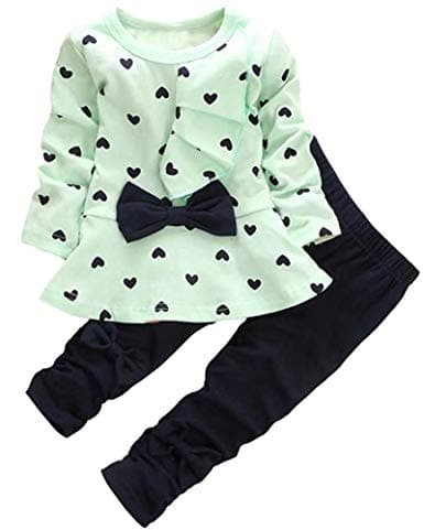 ea4e55d6b Amazon  Baby Girl Clothes Infant Outfits Set 2 Pieces Long Sleeved ...