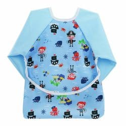 Hi Sprout Toddler Baby Waterproof Sleeved Bib, Bib with Sleeves&Pocket, 6-24 Months